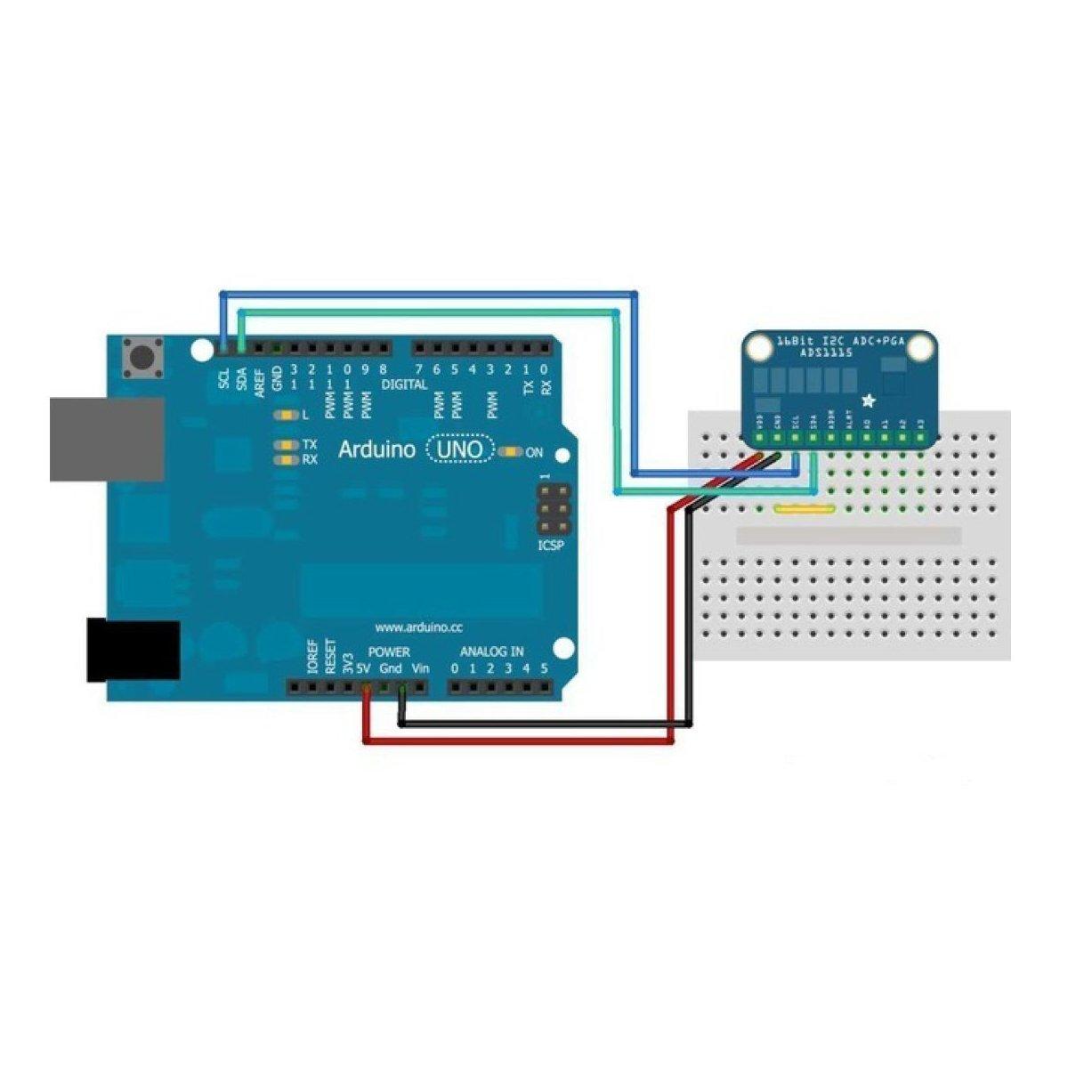 ... analogico a Digital ADC PGA con Amplificador de Ganancia programable Convertidor ADC de Alta Precision para Arduino Raspberry: Amazon.es: Electrónica