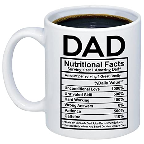 mycozycups fathers day gifts dad nutritional facts label coffee mug funny unique gift idea