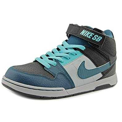 buy online 73e82 1bbf4 Nike Boys  Mogan Mid 2 JR Skate Shoe Black Teal Light Retro