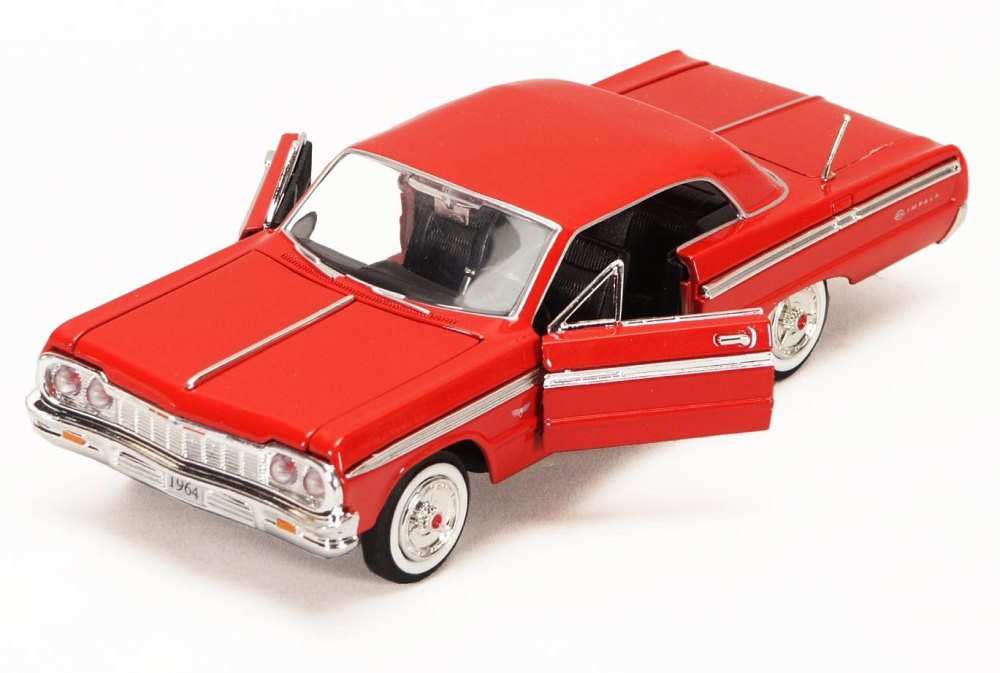 1964 Chevy Impala, Red - Showcasts 73259 - 1/24 Scale Diecast Model Car (Brand New, but NO BOX)