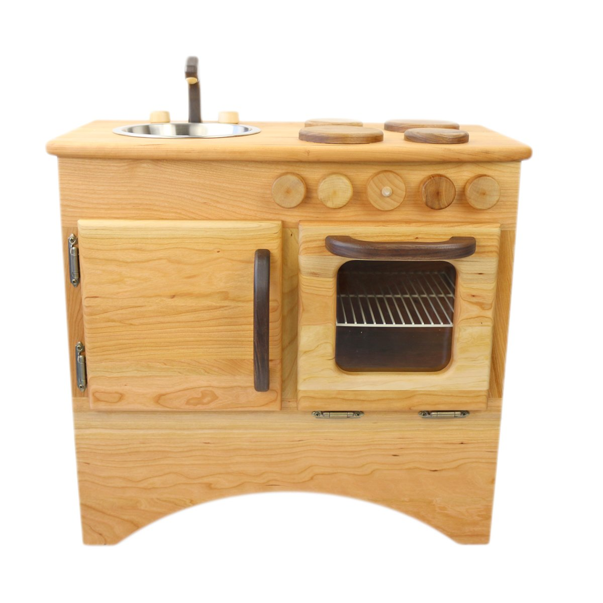 Camden Rose Beautiful Hearth (Child's Cherry Wood Play Kitchen, Without Hutch) by Camden Rose