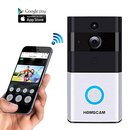 WiFi Wireless Video Doorbell with 8G Memory Storage and Two-Way Talk Smart Door  sc 1 st  Amazon.com & Amazon.com: WiFi Wireless Video Doorbell with 8G Memory Storage and ...