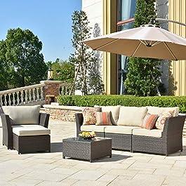 ovios Patio Furniture Set, Backyard Sofa Outdoor F...