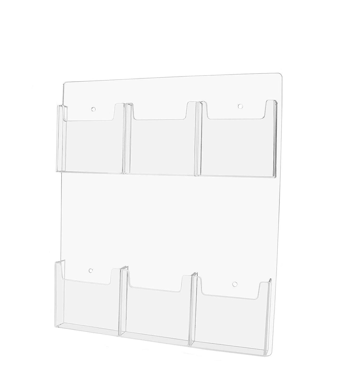 Amazon Marketing Holders Wall Mount Tri Fold 10 Pocket Pamphlet Flyer Holder Brochure Display 1 10 Pocket fice Products