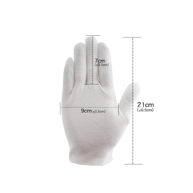 12 Pairs Cotton Gloves White Moisturising Lining Glove Health Music Canvas Work