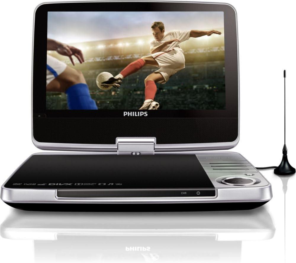 Philips PD9025/12 - DVD portátil con televisor (pantalla LCD de 9 ...