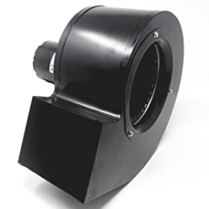 Rectangular Permanent Split Capacitor 3.3 Inch Blower w/Exhaust Mount   2 Speed 500/325 CFM   1625 RPM 115VAC 60Hz (Without Exhaust Mount)
