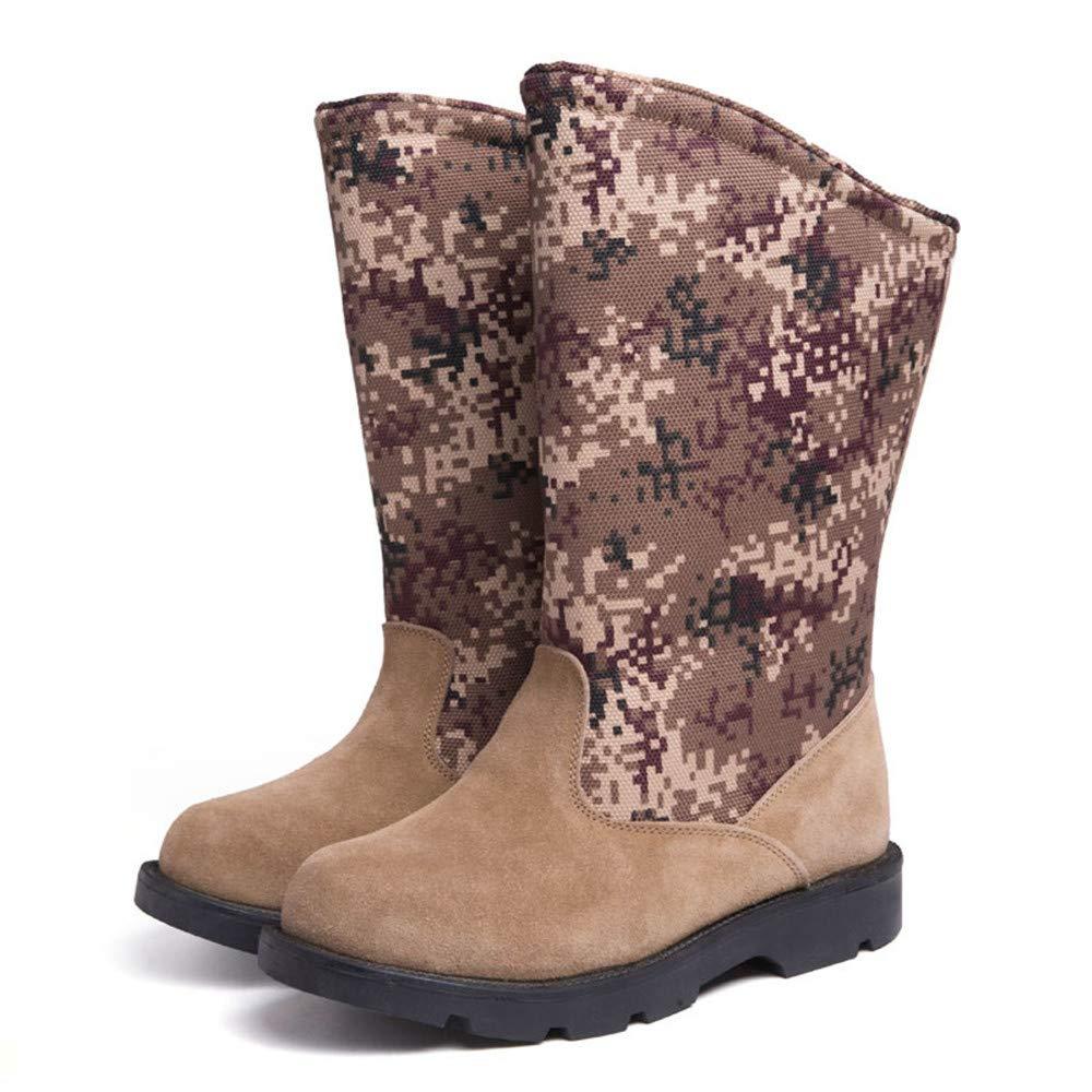 WWJDXZ Herren Hohe Schneeschuhe Männlich Warm halten Hohe Hohe Herren Dicke Dicke Unterseite Rutschfeste Baumwolle Schuhe Haut Winter Outdoor f3defe