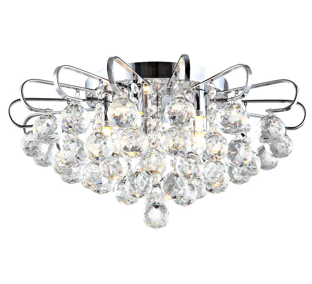 Kristall Deckenlampe LED Kronleuchter Deckenlampe Lüster Pendelleuchte Hängelampe Wohnzimmer Design Aktuell 45cm 5xG9 5W