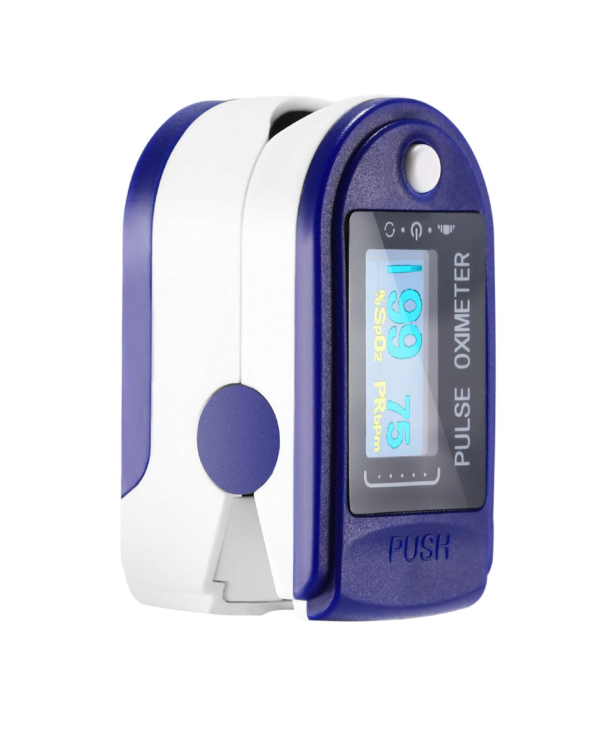 Finger Digital Pulse Oximeter Blood Oxygen Saturation Monitor Heart Rate Monitor SPO2 Health Monitors Portable Oxygen Sensor with LED