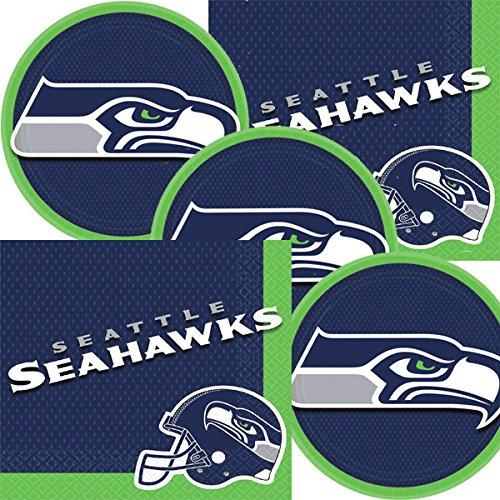 Football Team Logo Plates And Napkins Serves 16 ()