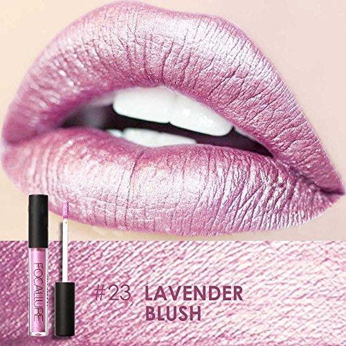 FOCALLURE Metal Lipgloss Lip Gloss Long Lasting Waterproof Lipstick Makeup Cosmetic 12 Types(#23)