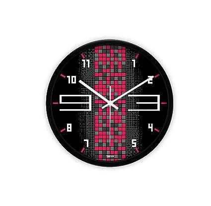 Relojes de decoración de arte silencioso Reloj de arte de metal de moda Espejo de cristal ...