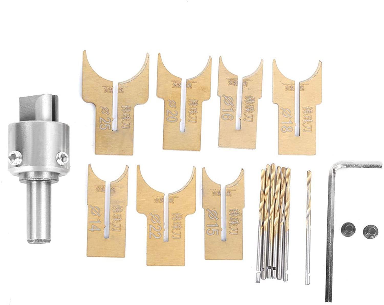 Brocas para Cuentas de Madera de 14-25 mm, Fabricante Cuentas Madera Acero aleación, Cortador Bolas para fresado Bolas 18 Piezas, Brocas para enrutador Bolas para Manualidades DIY, Pulseras