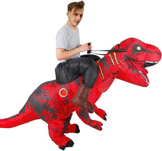 KRILY Halloween Disfraz DE Dinosaurio Inflable Disfraz DE Cosplay ...
