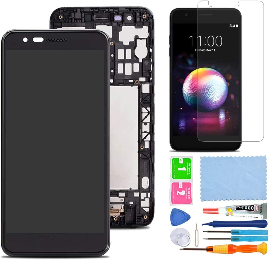 Amazon Com Xr Market Compatible Lg K10 2018 Lg K30 Screen Replacement Lcd Display Touch Screen Digitizer Assembly Part For X410 Lmx410 Lmt410tk With Tools Screen Protector Black W Frame