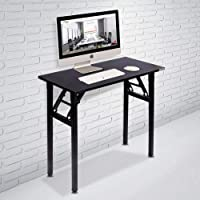 Need Small Computer Desk Folding Table 80cm Length No Assembly Sturdy and Heavy Duty Writing Desk for Small Spaces and…