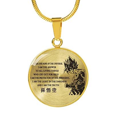 I Am The Light In The Darkness Circle Pendant - Goku