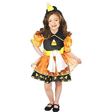 Lil Candy Corn Witch Girl Toddler Costume  sc 1 st  Amazon.com & Amazon.com: Lil Candy Corn Witch Girl Toddler Costume: Clothing