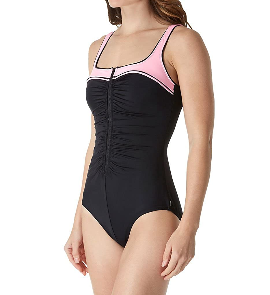 Reebok Women's Zip Tide One Piece Swimsuit Reebok Women's Swimwear 780524