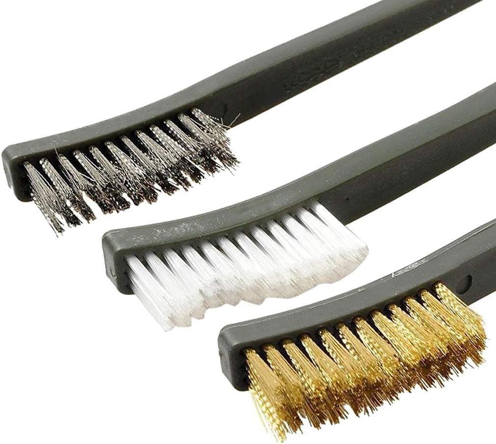buwei/7pcs set 3 brosses 4 aiguilles crochets tactique carabine pistolet nettoyant outils de nettoyage kit accessoires de chasse