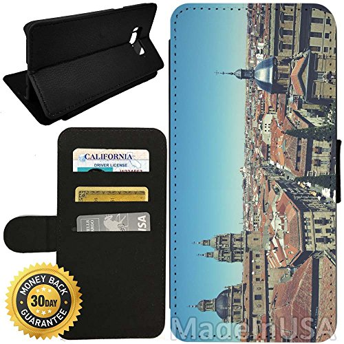 Flip Wallet Case for Galaxy S8 Plus (Old City of Salamanca) with Adjustable Stand and 3 Card Holders | Shock Protection | Lightweight | by Innosub - Salamanca Three Light