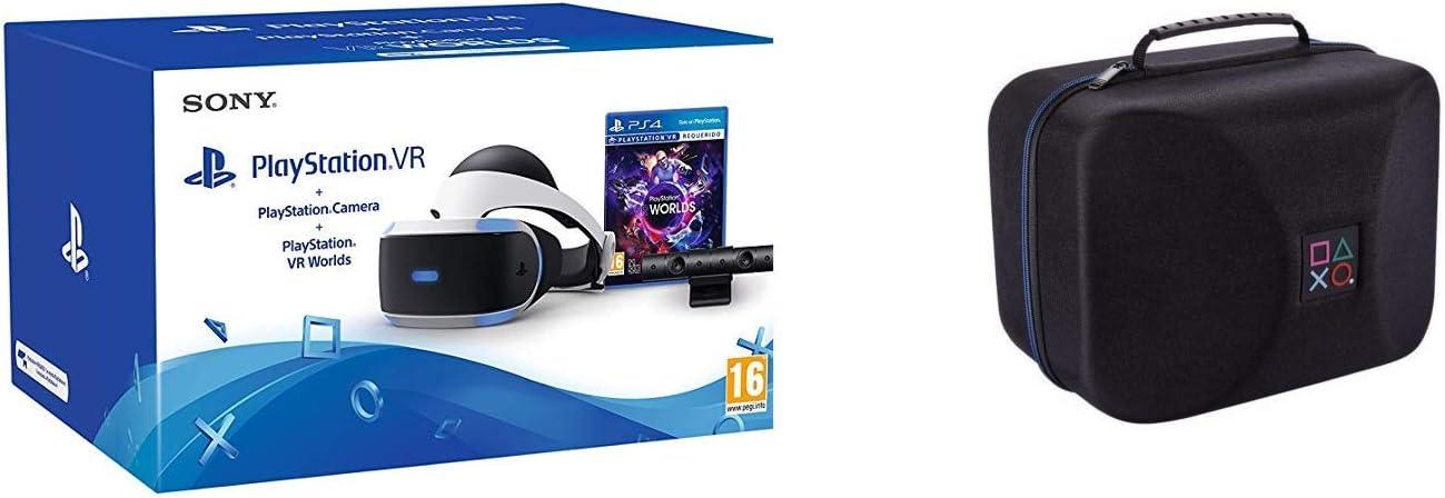 Sony - PlayStation VR Casco De Realidad Virtual + VR Worlds + Cámara (PS4) + Funda para VR Big Ben: Amazon.es: Videojuegos