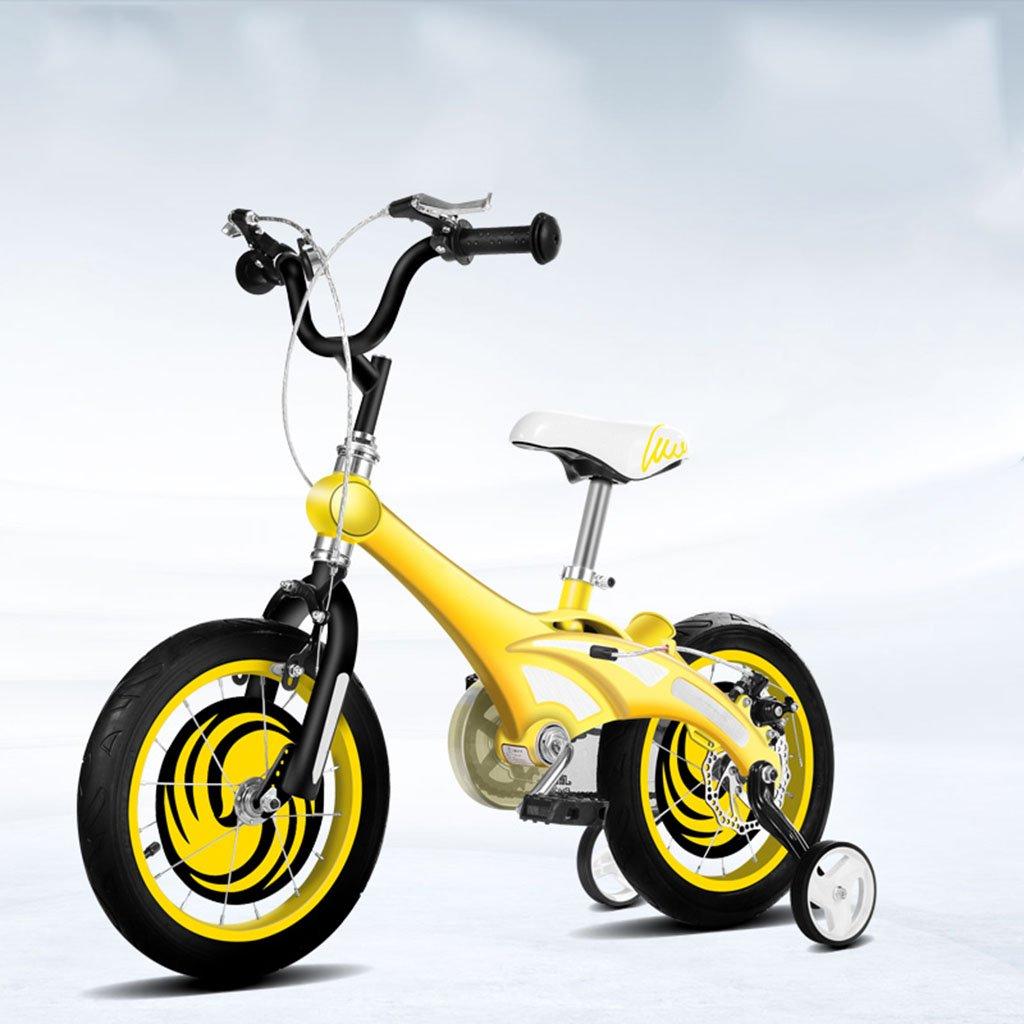 CGN子供用自転車、子供用赤ちゃん赤ちゃん用キャリッジ子供用マグネシウム合金自転車 soft B07C4VCTDC イエロー いえろ゜ イエロー いえろ゜