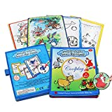 Magic Water Drawing Books, Children's Day Gift Animal Doodle Cloth Book,Reusable Travel Original Color Doodle Painting Toys with 2 Magic Water Pens for kids (Farm Animal-Themed)