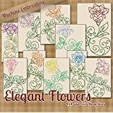 Elegant Flowers Embroidery Machine Designs on CD - 10 Beautiful Patterns - 2 Sizes Each - PES JEF EXP XXX VIP HUS DST