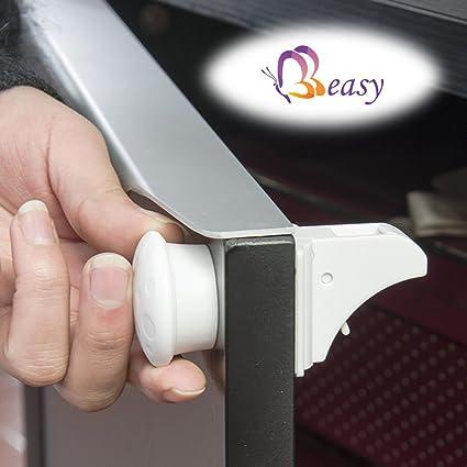 BB easy® - Cerraduras magnéticas de seguridad para alacenas, gabinetes y cajones (4
