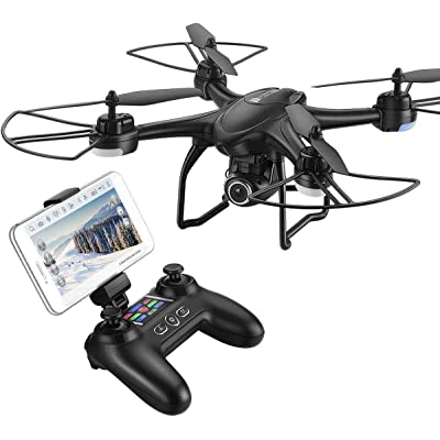 HOBBYTIGER H301S Ranger Drone with Camera Live Video and GPS Return Home 720P HD Wide-Angle WiFi Camera for Kids, Beginners and Adults - Follow Me, Altitude Hold, Long Control Range: Toys & Games