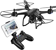 HOBBYTIGER H301S Ranger Drone with Camera Live Video and GPS Return Home 720P HD Wide-Angle WiFi Camera for Kids, Beginners