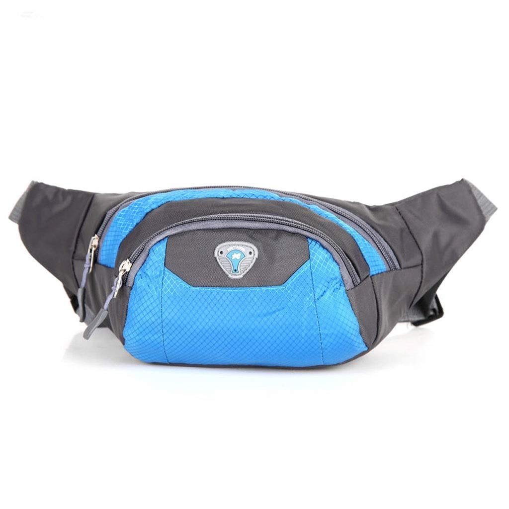 FS Ass Bag, Multi-Function Pocket Pockets, Sports and Leisure Diagonal Bag, Large-Capacity Pockets (Color : Blue)