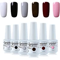 Vishine 6Pcs Soak Off LED UV Gel Nail Polish Varnish Nail Art Starter Kit Beauty Manicure Collection Set C004
