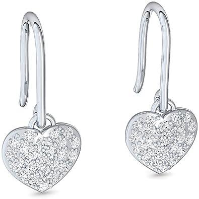 am besten authentisch schönen Glanz Fang Herz Ohrhänger Hängende Ohrringe Herz Hängeohrringe Ohrringe - inkl.  Luxusetui mit Gravur