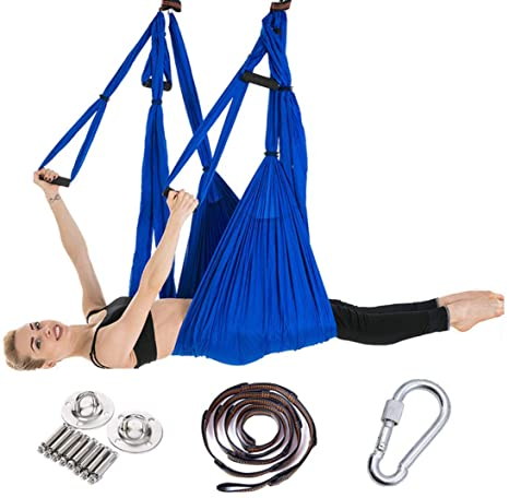 Amazon.com : RYSD-MT Yoga Hammock, Aerial Silk Yoga Set Safe ...