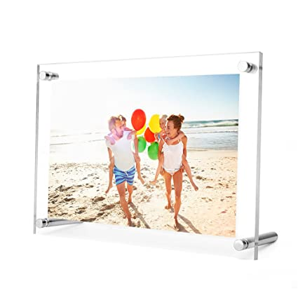 Amazon.com: TWING 5 x 7 Acrylic Picture Frame ,Clear Desktop ...