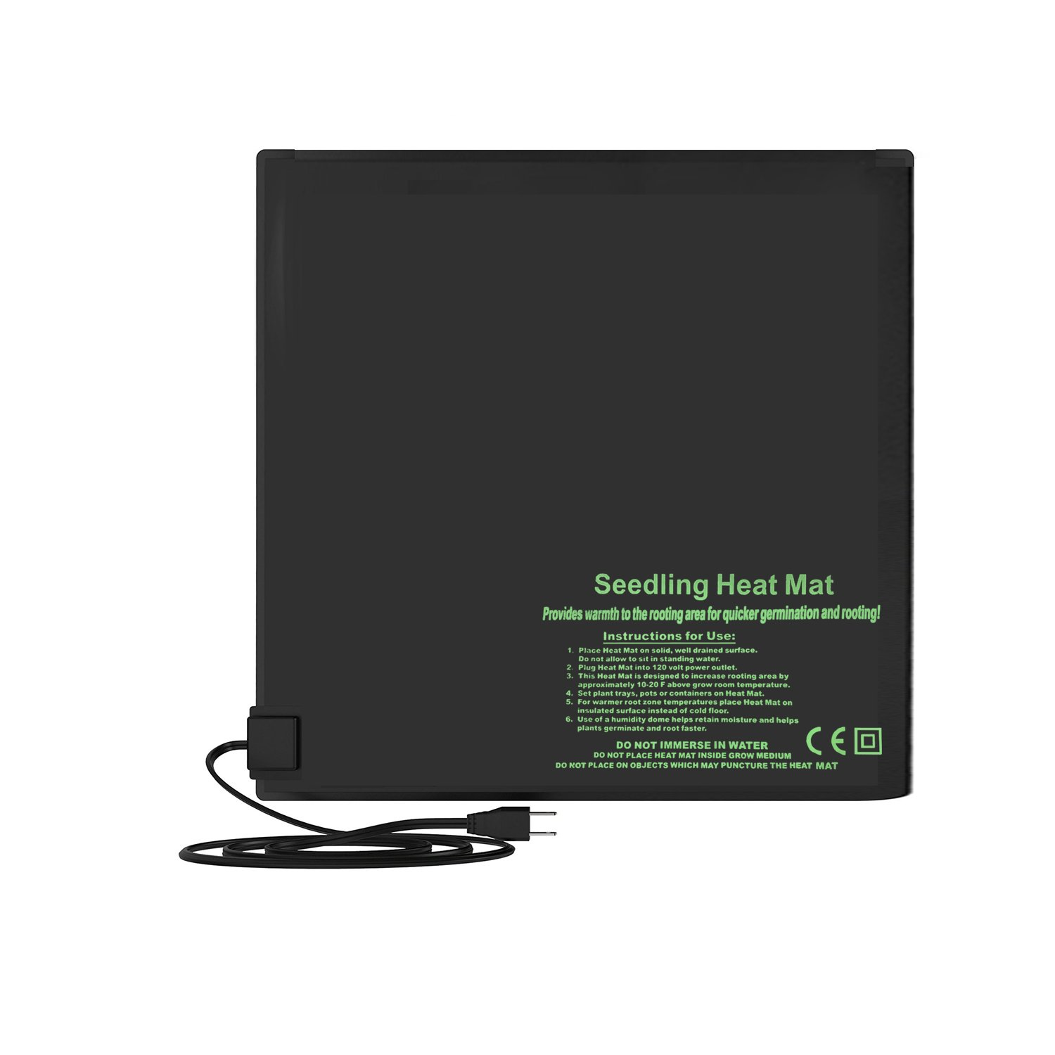 """BloomGrow 20""""x10"""" 20""""x20"""" 48""""x20"""" Seed Starter Pad Germination Propagation Clone Seedling Heat Mat (20""""x20"""") by BloomGrow (Image #3)"""
