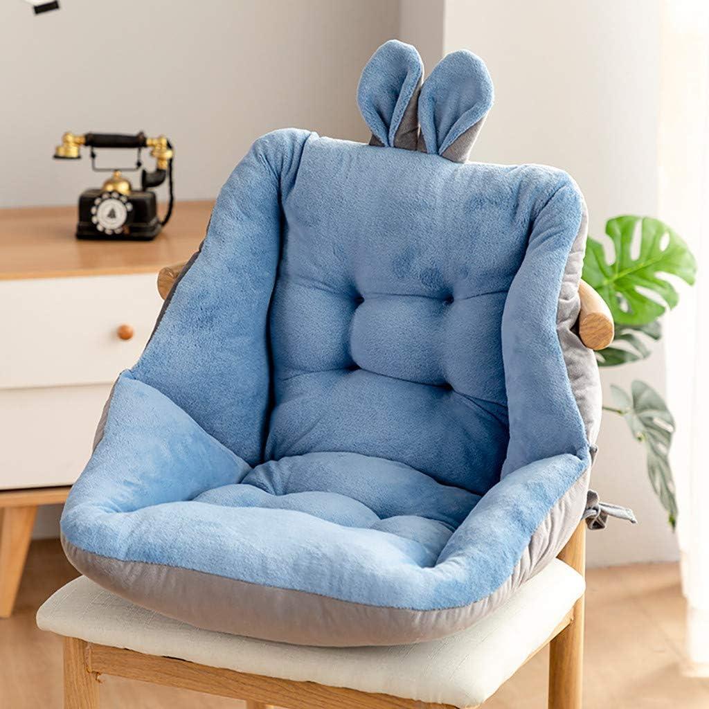 Coussin de Chaise pour la Maison Coussin de Chaise Semi-ferm/é,Coussin De Si/ège pour Chaise De Bureau,Si/ège de Plancher en Peluche Douce Blue