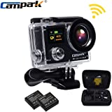 Campark® - Action Camera ACT76, FHD 1080P 16MP