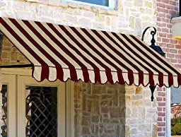 Awntech 8-Feet New Orleans Awning, 56-Inch Height by 32-Inch Diameter, Light Yellow