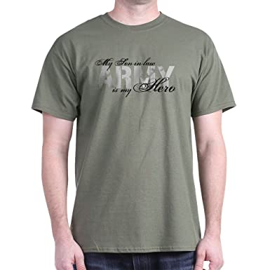 f802cc3b Amazon.com: CafePress Son-in-Law is My Hero Army Cotton T-Shirt ...