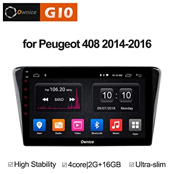 Ownice G10 1024 * 600 Android 6.0 Quad Core Car Radio GPS Navieot Player Peugeot 408
