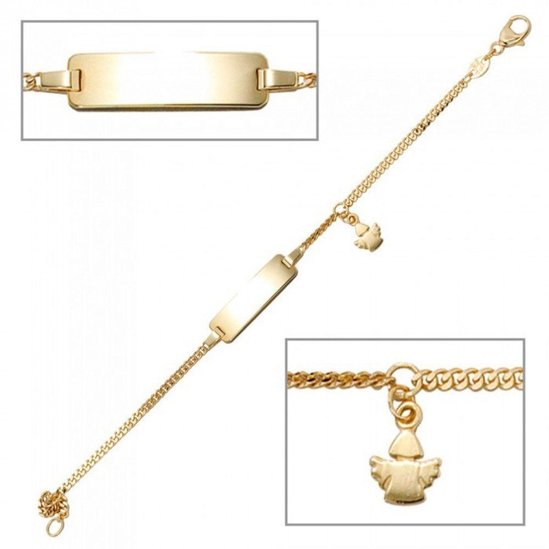 Armband Schildband Schutzengel MIRIAM gelbgold 333 Kind