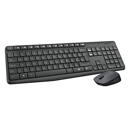 ae035b3c0a9 Amazon.in: Buy Logitech MK235 Wireless Keyboard and Mouse Combo Grey Online  at Low Prices in India | Logitech Reviews & Ratings