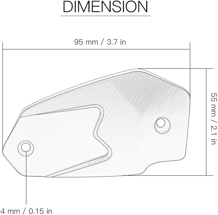 Gris Motocicleta Tapa del Dep/ósito del L/íquido de Frenos Posterior para Kawasaki Z900 2016 Z800 2013-2015 Z750 750R Z1000 2009-2016