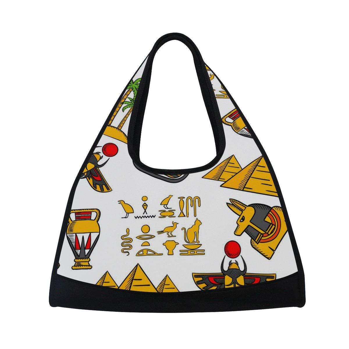 Sport Gym Bag Ancient Egypt Egyptian Character Canvas Travel Duffel Bag