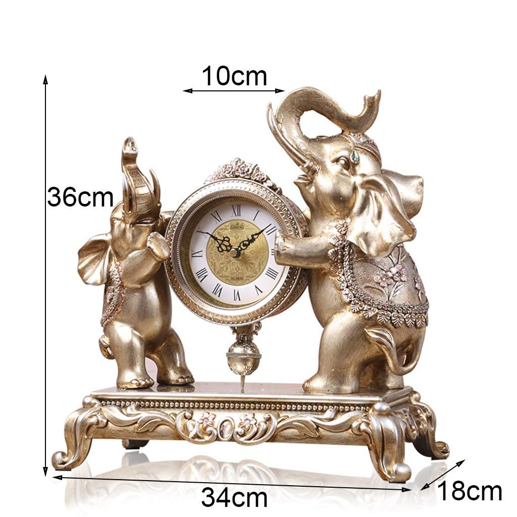 Amazon.com : Family Fireplace Clocks Desktop Watch Tablecloth Clocks Living Room European Style Resin Clock Mute Bedside Clock Suitable for Living Room ...