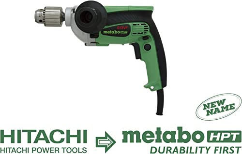 Metabo HPT D13VF 9-Amp 1 2 Corded Drill, 0-850 Rpm, Variable Speed Trigger, Form Fit Palm Grip, Contractor-Grade Cast Aluminum Gear Housing, Belt Hook, 5-Year Warranty